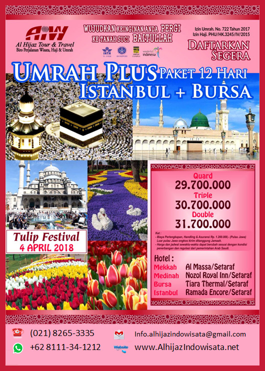 umroh plus turki april 2018