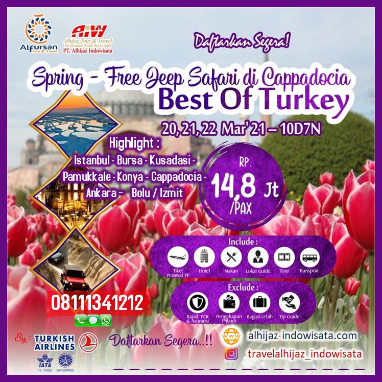 tour turki maret 2021 tulip
