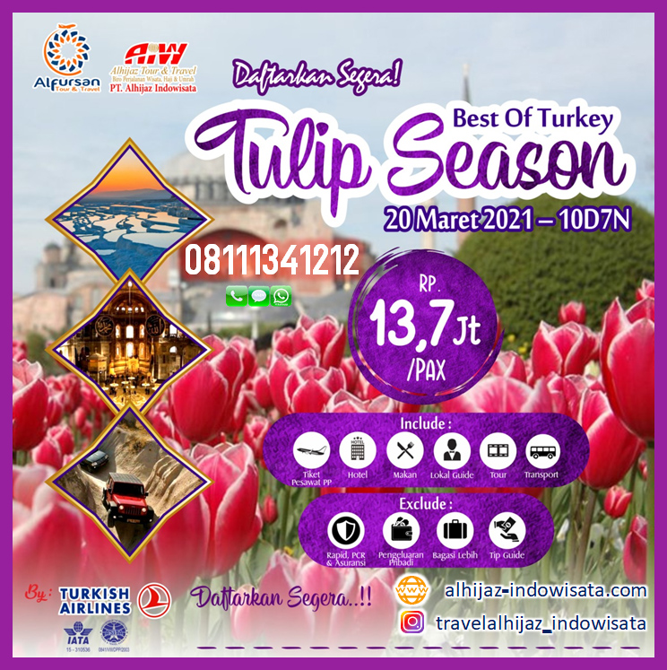 tour turki 10 hari maret 2021 tulip season